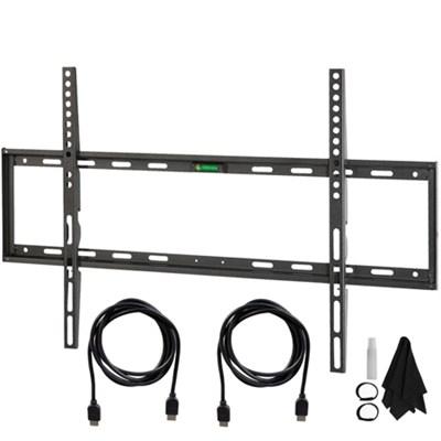Flat & Tilt Wall Mount Kit Ultimate Bundle for 32-60 inch TVs