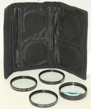 52mm 4pc HD Macro Close-UP Lens Filter Set +1 +2 +4 +10