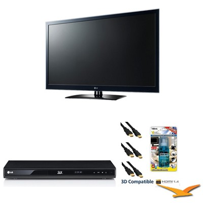 55LW5600 - 55 Inch 1080P 120 Hz LED LCD TV Plus 3D Bundle