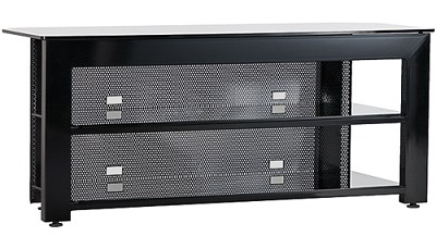 SFV49b - Steel A/V Stand for flat panel TVs up to 52` (Hi-gloss Black Finish)