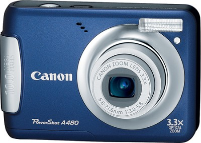PowerShot A480 10MP Digital Camera (Blue) - REFURBISHED
