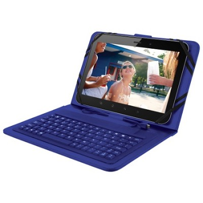 Bluetooth Keyboard Case for 7 inch Tablets in Blue