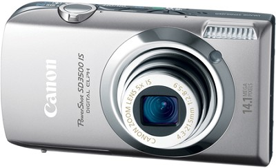 Powershot SD3500 IS 14.1 MP Digital Camera with 3.5` Touch Panel LCD (Silver)