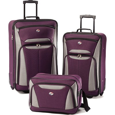Fieldbrook II Three-Piece Luggage Set (Purple/Grey)