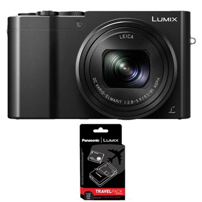 ZS100 LUMIX 4K 20 MP Digital Camera w/ Wi-Fi - Black with Power Bundle