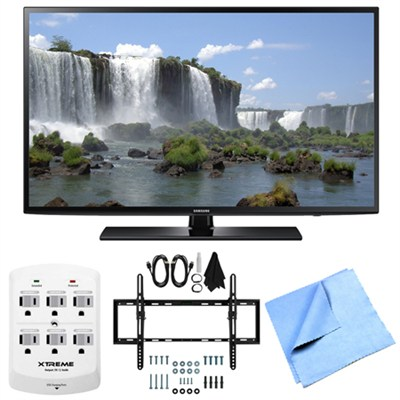 UN40J6200 - 40-Inch Full HD 1080p 120hz Smart LED TV Tilt Mount & Hook-Up Bundle