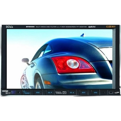 7-Inch Double-DIN Motorized In-Dash Widescreen Touchscreen TFT Monitor/DVD/MP3/C