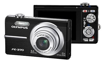 FE-370 8MP Digital Camera with Smile Shot (Black)