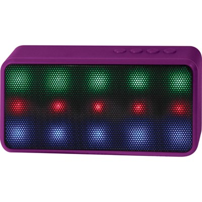 Prysm Wireless Bluetooth Speaker with Dazzling LED Lights - Purple