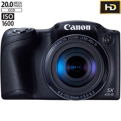 Powershot SX410 IS 20MP 40x Optical Zoom 720p HD Black Digital Camera