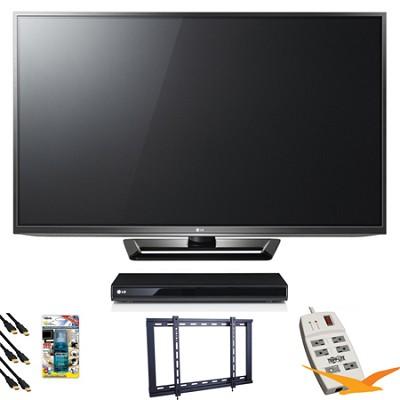 50PA6500 50` Class Plasma HDTV Blu Ray Bundle