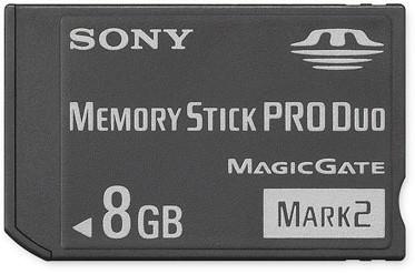 8GB Memory Stick PRO Duo  Mark 2 Media {MS-MT8G}