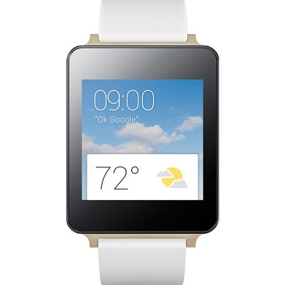Android Wear Water and Dust Resistant White Smart G Watch - OPEN BOX