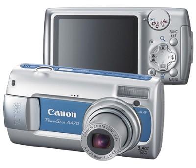 PowerShot A470 Digital Camera (Blue)