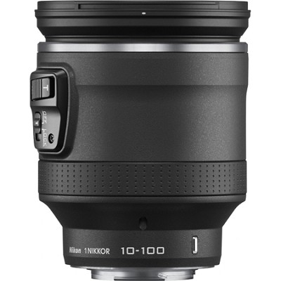 1 NIKKOR 10-100mm f/4.5 - 5.6 VR Lens Black for CX format - Factory Refurbished