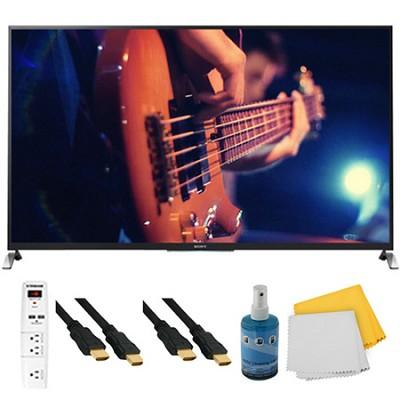 65` Ultimate Smart 3D LED HDTV Motionflow XR 480 Plus Hook-Up Bundle KDL65W950B