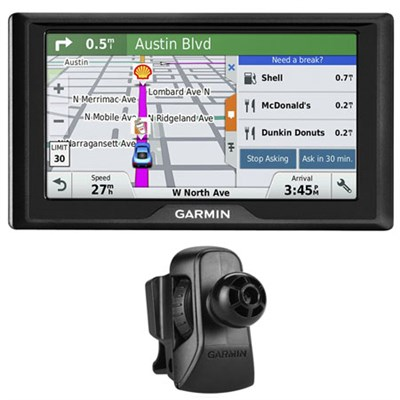 Drive 50LM GPS Navigator with Lifetime Maps (US)- 010-01532-0C w/ Air Vent Mount