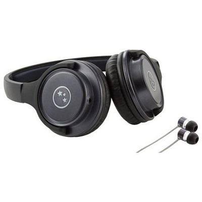 Musician's Choice Stereo Headphone Plus Sound Isolation Earbuds - Gun Metal