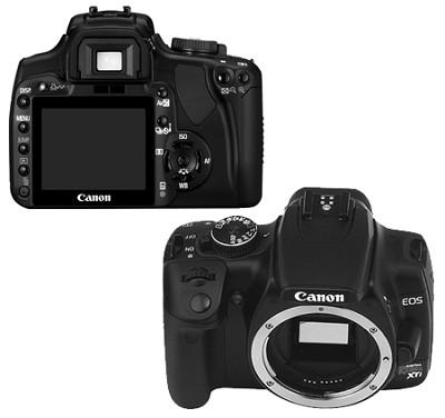 EOS Digital Rebel XTi Body (Black) - Lens Not Included (Refurbished)