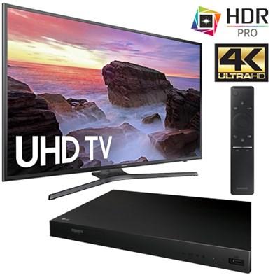 UN55MU6300 55` 4K Ultra HD Smart LED TV (2017) + LG UP870 Blu-Ray Player Kit