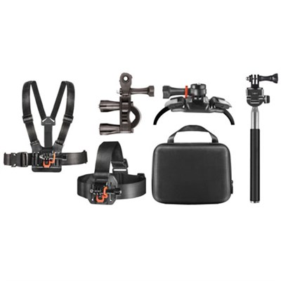 Outdoor Action Kit with Clip Head Mount for Action Camera