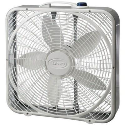 20-Inch Premium Box Fan 3-Speed - White, 3723