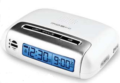 Speak 'N Set Touch Activated Travel Alarm Clock White - OPEN BOX