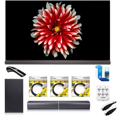 65` Signature OLED 4K HDR Smart TV OLED65G7P w/LG SJ7 Wireless Sound Bar Bundle