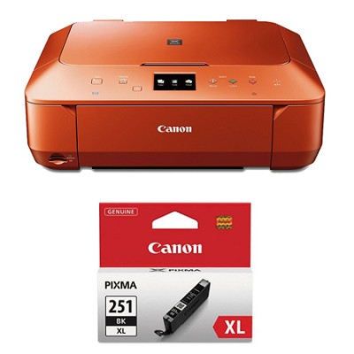PIXMA MG6620 Wireless Color Photo All-in-One Inkjet Orange Printer XL Ink Bundle