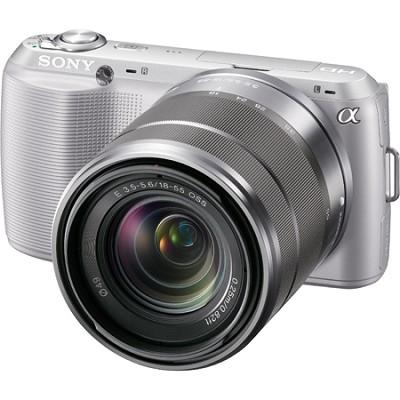 Alpha NEX-C3 Interchangeable Lens Silver Digital Camera w/ 18-55mm Lens