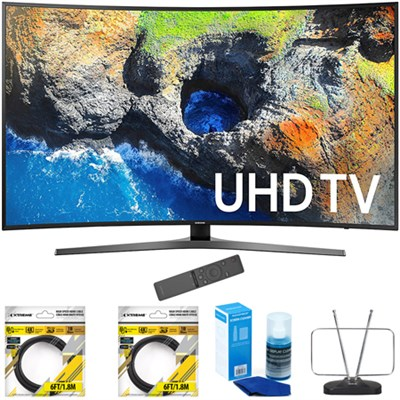 65` Curved 4K Ultra HD Smart LED TV 2017 Model with Cleaning Bundle