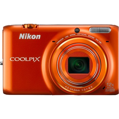 COOLPIX S6500 16 MP Digital Camera with 12x Zoom and Built-In Wi-Fi (Orange)