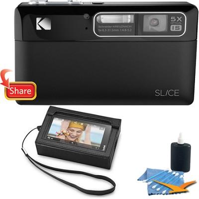 Slice 14MP 3.5` LCD Touchscreen Black Digital Camera Bundle w/ Premium Case