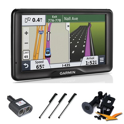 nuvi 2757LM 7` GPS Navigation System with Lifetime Map Updates Essentials Bundle