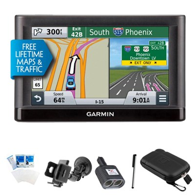nuvi 55LMT Essential Series GPS Nav w/ Lifetime Maps & Traffic Ultimate Bundle