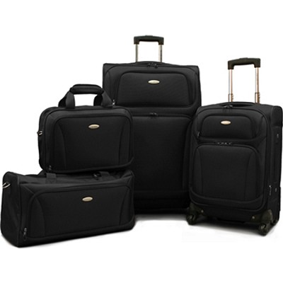 Premium 4 Piece Lightweight Set (20` & 28` Spinners + Duffel & Boarding) {Black}