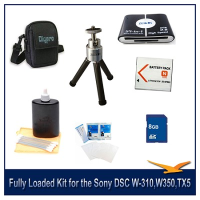 Fully Loaded Kit for the Sony DSC W-310,W350,W530, W570, TX100