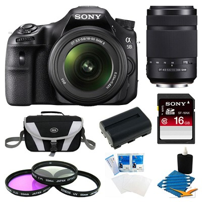 Alpha SLT-A58K Digital SLR Camera 16 GB 55-300mm Lens Bundle