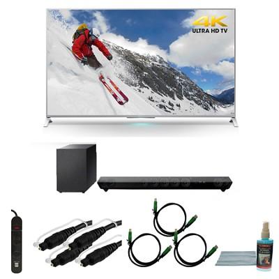 XBR-55X800B 55-inch 4K Ultra HD Smart LED TV Motionflow HT-ST5 Sound Bar Bundle