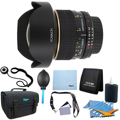 14mm f/2.8 IF ED MC Super Wide Angle Fisheye Lens for Canon - Lens Kit Bundle
