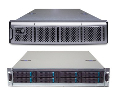 4x1GbE iSCSI SAN Array, 2U, w/o Drives, with Trays, 8 bay storage unit