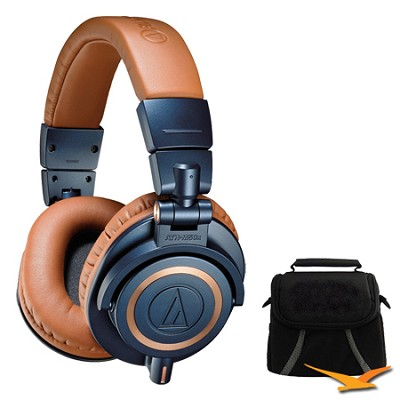 ATH-M50xBL Professional Headphones - LIMITED EDITION Deluxe Bundle