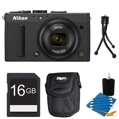 COOLPIX A 16.2 MP Digital Camera with 28mm f/2.8 Lens Black 16gb Pro Kit