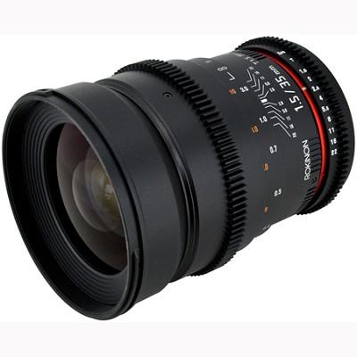 35mm T1.5 Aspherical  Wide Angle Cine Lens w/ De-clicked Aperture Canon (CV35-C)