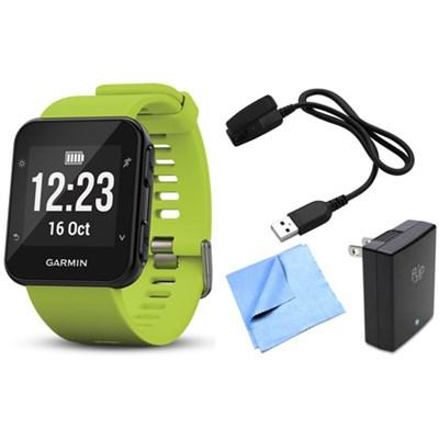 Forerunner 35 GPS Running Watch & Activity Tracker w/ Accessories Bundle - Lime