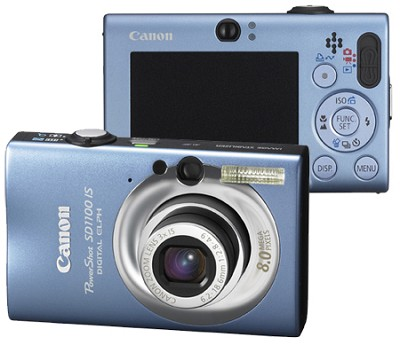 Powershot SD1100 Digital Camera (Blue) Refurbished