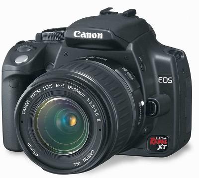 EOS Digital Rebel XT with EF-S 18-55mm Kit (Black) - EOS 350D