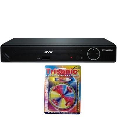 HDMI 1080p DVD Player w/ USB Port-SDVD6670 w/Trisonic Laser Lens Cleaning Bundle