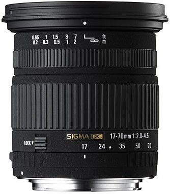 Super Wide Angle Zoom 17-70mm f/2.8-4.5 DC Macro Autofocus Lens for Canon