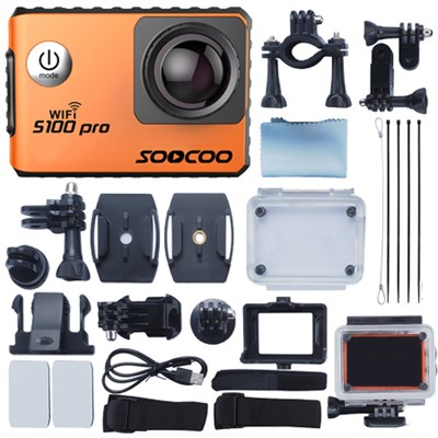 S100 Pro Kit Wifi 4k Sports Action Camera IMX078 Sensor